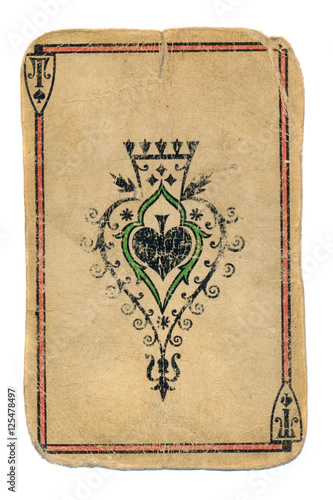 Poster ancient paying card ace of spades ornamental background