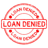 Grunge red loan denied rubber stamp