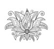 Vector illustration of lotus flower for coloring book, fiore di loto vettoriale da colorare - 125536067