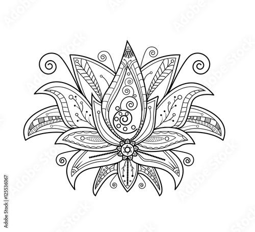 Gamesageddon Vector Illustration Of Lotus Flower For Coloring Book