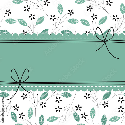Beautiful lace frame with stylish floral background