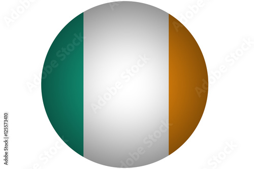Poster 3D Ireland flag ,original and simple Ireland flag.Nation flag