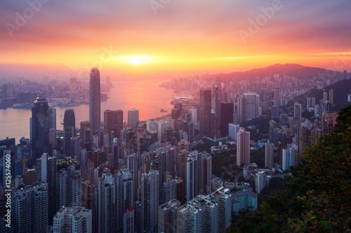 Hong-Kong sunrise Canvas Print