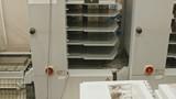 Polygraph process inside - folding machine on printing industry, slider