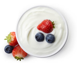 Bowl of greek yogurt - 125614449