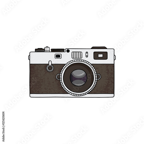 Retro camera illustration.