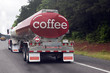 Coffee and Espresso Tanker on Highway
