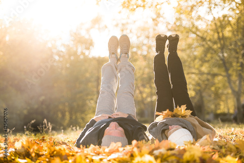 senior couple outdoors Poster