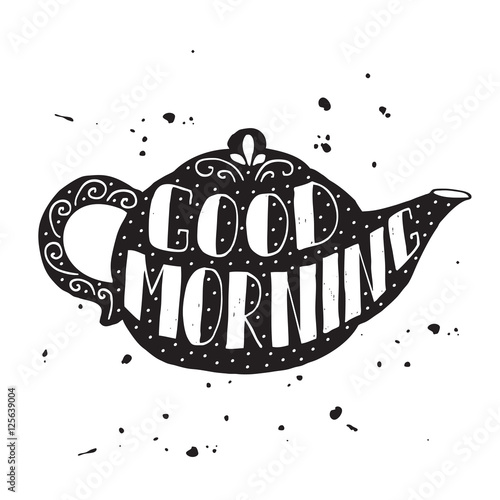 Good morning modern lettering poster © Juliya Lykoyanova