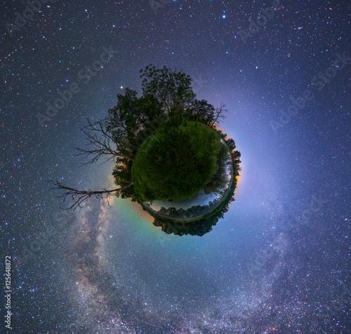 Poster Starry night landscape