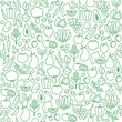 Vegetables seamless pattern - 125655822
