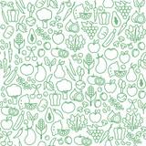 Vegetables seamless pattern - 125655822