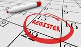Register Day Date Circled Calendar Registration Deadline 3d Illu
