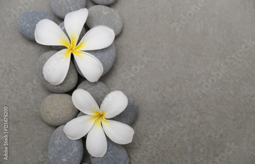 Fotobehang Spa spa theme objects on grey background.