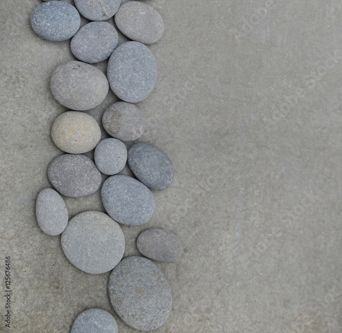 Poster Spa Top view of spa theme -grey background., zen like concepts