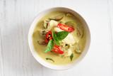 green curry chicken,thai food - 125691203
