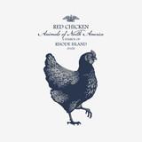 Курица Красная символ штата Род-Айленд, Америка - 125693661