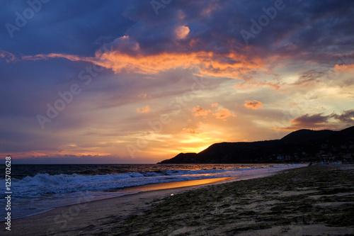 Poster Evening Beach