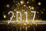 Happy New Year 2017 - Diamonds Numbers And Glittering