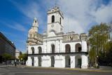 Cabildo building view from Plaza de Mayo square.