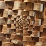Rural beige wooden knit spiral texture image