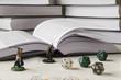 RPG, figurki książki i kości k20