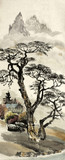 Chinese landscape with a tree