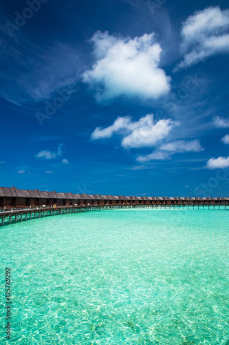 Fotobehang Groene koraal beach in Maldives