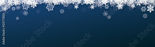 banner snow christmas - vector ( snowflakes , xmas , new year )