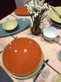 stoviglie piatti bicchieri ciotole tavolo posate cucchiaio forchette tavola casa