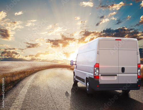 Transport truck. 3D Rendering