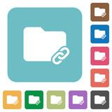Folder link flat icons
