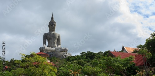 Buddha statue on the mountains of Thailand. Poster