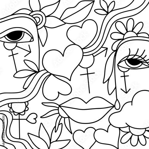 Foto op Plexiglas Klassieke abstractie symbols of love