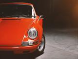 Oldtimer roter Sportwagen, Rennauto siebziger Jahre