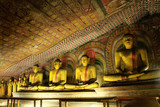 Interior of Dambulla Golden Temple in Sri Lanka