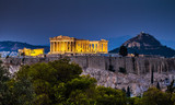 Parthenon of Athens at dusk time,  Greece - 125876014