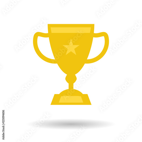 Foto op Canvas Flat trophy cup icon