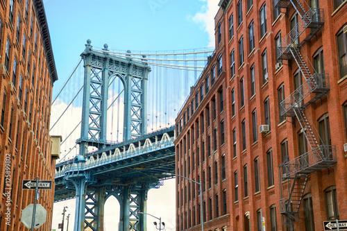 Manhattan Bridge seen from Brooklyn, New York City Poster