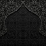Abstract background with traditional ornament - 125914009