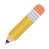Pencil icon. School supply object and education theme. Isolated design. Vector illustration