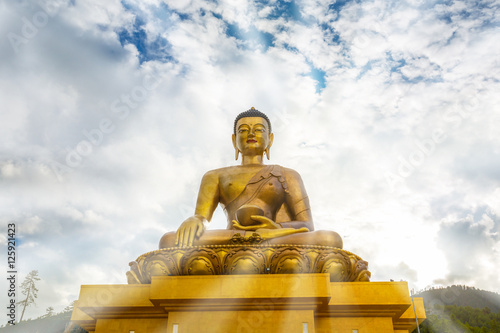 Juliste Buddha on bright day, Buddha Dordenma statue, Thimphu, Bhutan
