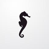 seahorse icon illustration