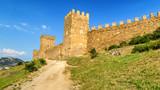 генуэзская крепость в городе Судак, полуостров Крым, Черное море