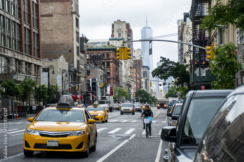 New York City Taxi Streets USA Big Apple Skyline