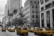 Quadro New York City Taxi Street USA Black white yellow 2