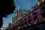 Municipal Palace at night - Puebla, Mexico