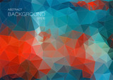Blue and red abstract background for web Design