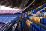 Empty Seating at the Nou Camp Stadium, Barcelona