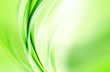 Abstract background powerful effect lighting. Green blurred color waves design. Floral template for your creative graphics.